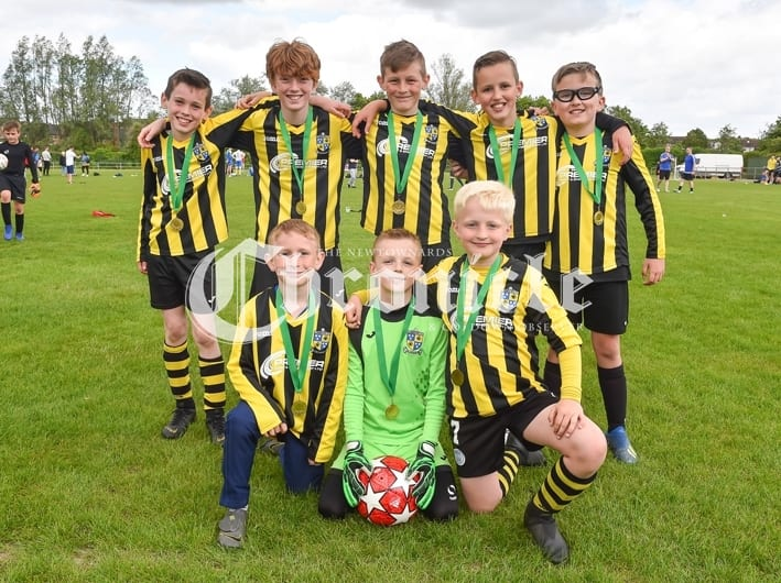 Comber Rec FC held a fun day for Kodi's Krew, a charity which is raising funds for Kodi Brown from Killinchy who require's brain tumour treatment.Pictured are Comber Recs winners of the Kodi's Krew 08's . SG62-30-05-19