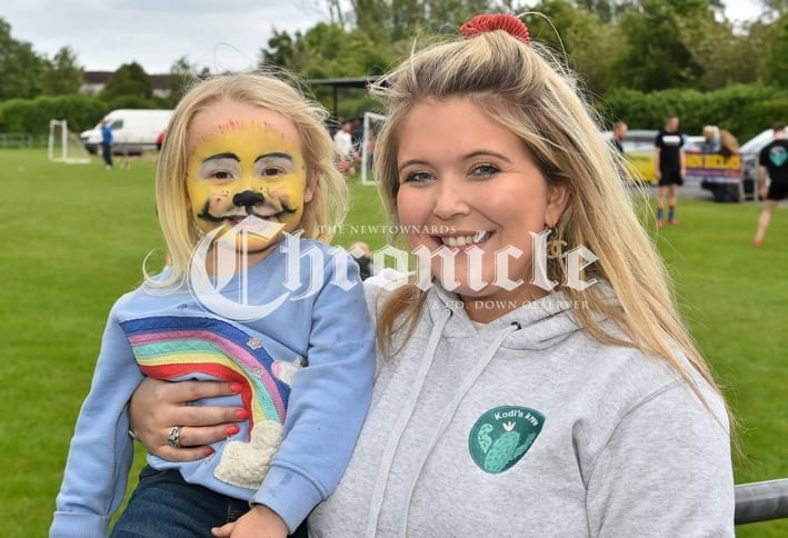 Comber Rec FC held a fun day for Kodi's Krew, a charity which is raising funds for Kodi Brown from Killinchy who require's brain tumour treatment.Pictured are Rae Preston and Bromwynne Young. SG61-30-05-19