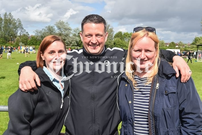 Comber Rec FC held a fun day for Kodi's Krew, a charity which is raising funds for Kodi Brown from Killinchy who require's brain tumour treatment.Pictured are Sarah Russell, David Bailey and Laura Meharry. SG64-30-05-19
