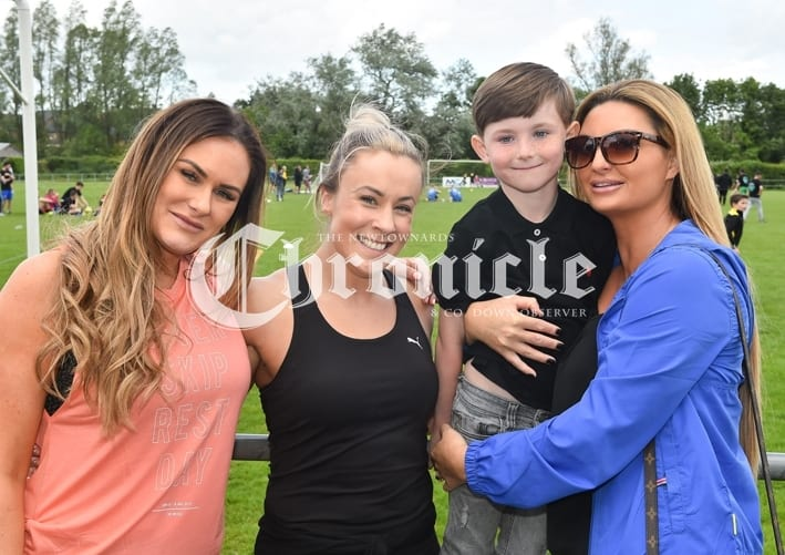 Comber Rec FC held a fun day for Kodi's Krew, a charity which is raising funds for Kodi Brown from Killinchy who require's brain tumour treatment.Pictured are Natalie Greenhalgh, Laura Hutchinson, Jude Crawford Gillespie and Cheryl Crawford. SG67-30-05-19