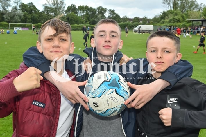 Comber Rec FC held a fun day for Kodi's Krew, a charity which is raising funds for Kodi Brown from Killinchy who require's brain tumour treatment.Pictured are Don Cole, Don McMullan and Josh Anderson. SG68-30-05-19